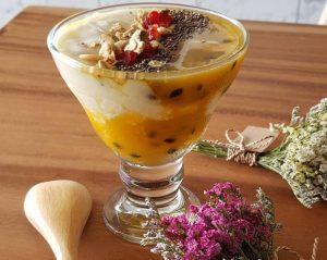 Mango Passionfruit Smoothies Bowl Frozen Fruit Thailand
